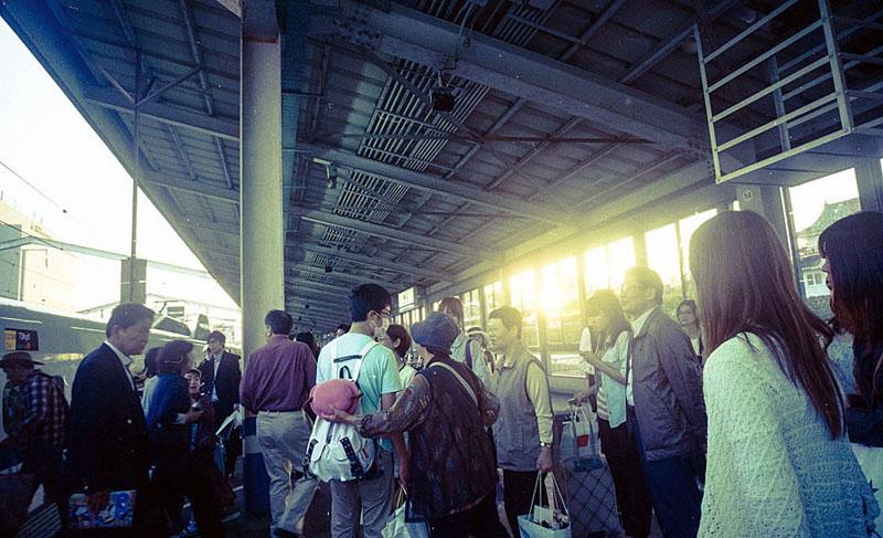 一ノ関の駅で